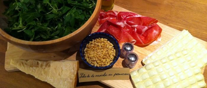 Salade de ravioles au Parmesan