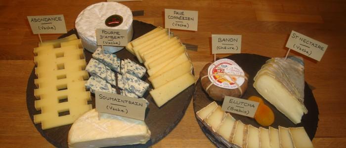 Plateau de fromages de Janvier