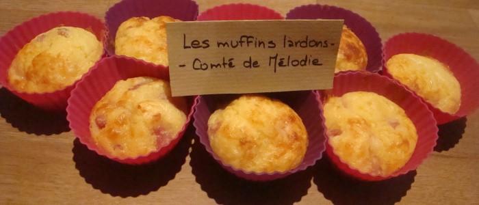 Muffins lardons/Comté de Mélodie