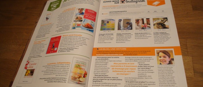 Merci au magazine Gourmand pour l'article !