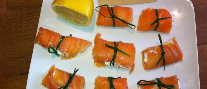 Recette : rouleaux de saumon fumé à la Ricotta anisée