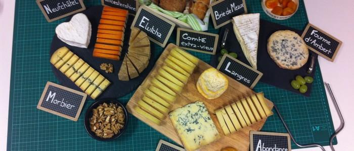Le plateau de fromages du bureau
