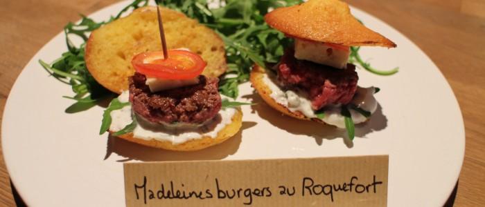 Recette : madeleines burgers au roquefort