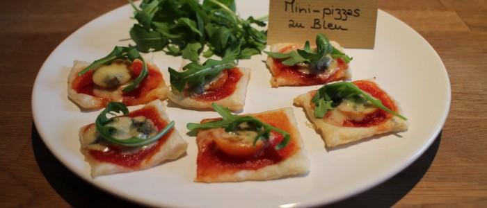 Recette : mini-pizzas au Bleu d'Auvergne