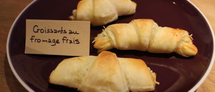 Recette : Croissants au fromage frais