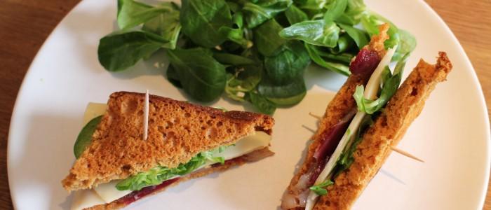 Recette : Club sandwichs au magret et pain d'épice