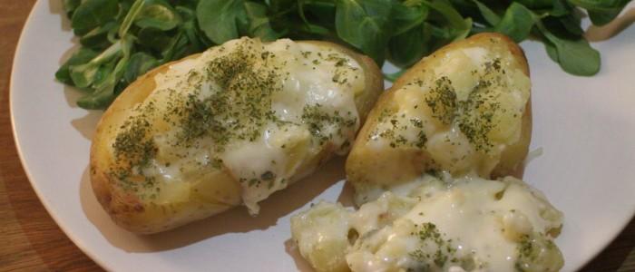 Recette : Pommes de terre farcies au Chevrotin