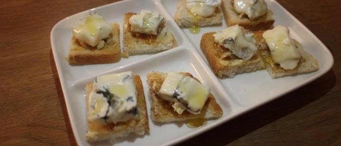 Recette : mini-crostinis au Gorgonzola