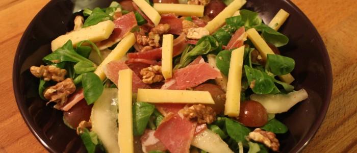 Recette : Salade des vendangeurs au cheddar