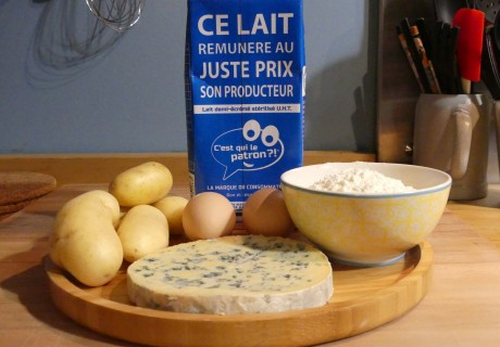 gaufres fourme ambert fromages de clairette ingredients