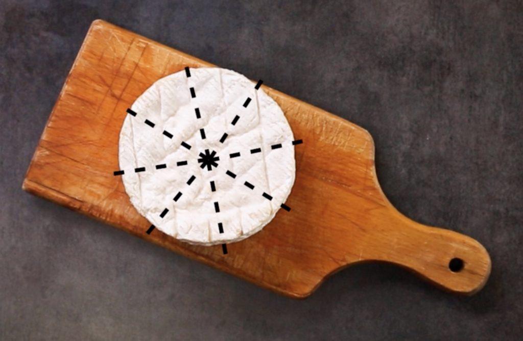 découper les fromages ronds comme le camembert